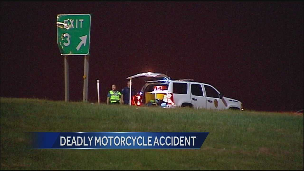 Deadly motorcycle crash on Interstate 635