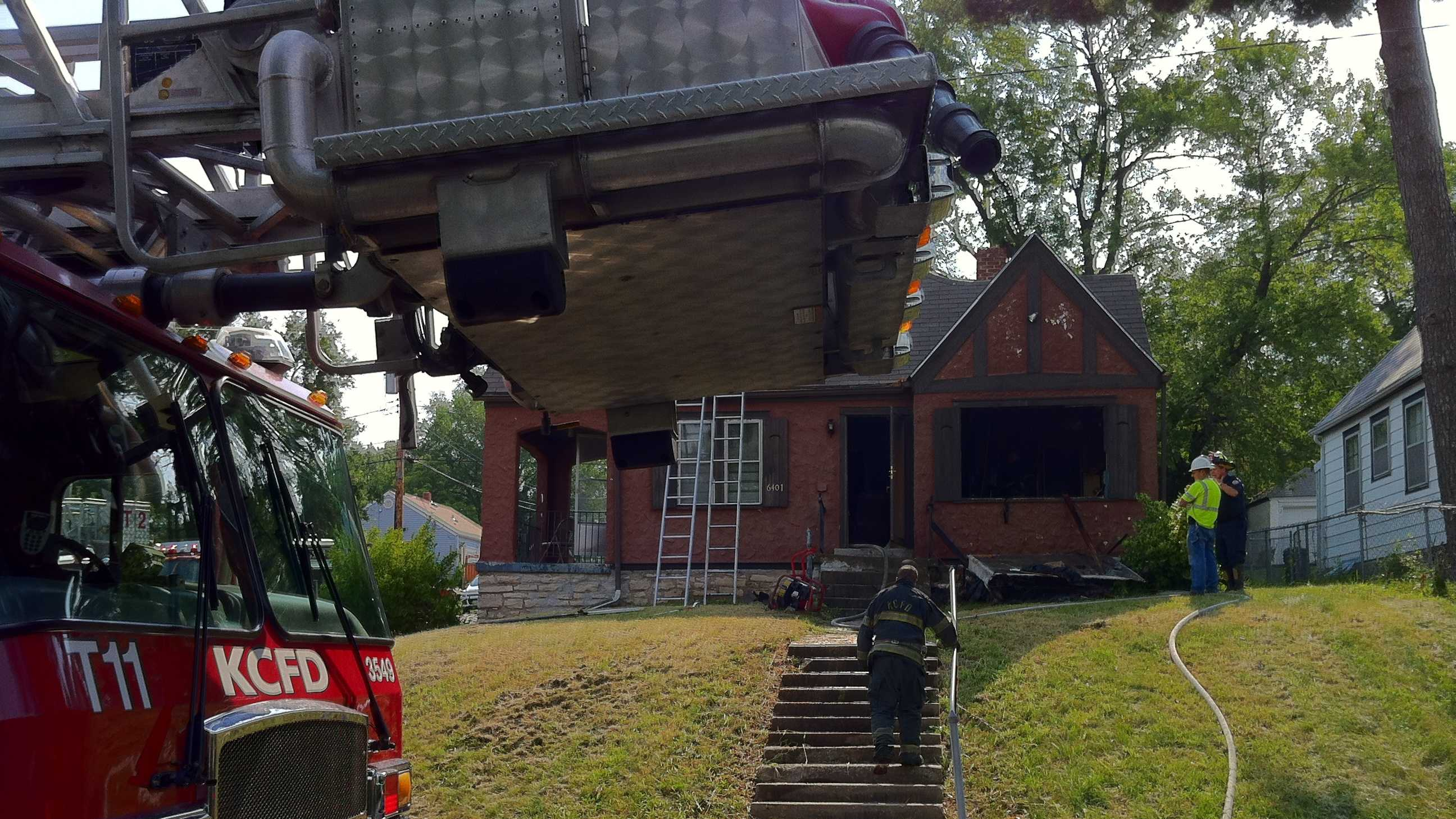 Fire damages home at 64th and Chestnut
