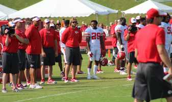 The Kansas City Chiefs practice a final time from training camp before their first preseason game versus the Cincinnati Bengals Thursday. Safety Eric Berry practices after missing some time recently with an injury.