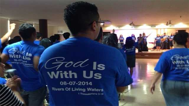 Image Church holds first service since collapse