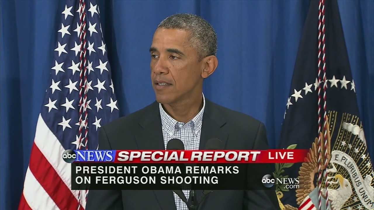 President Obama talks about unrest in Ferguson, Missouri