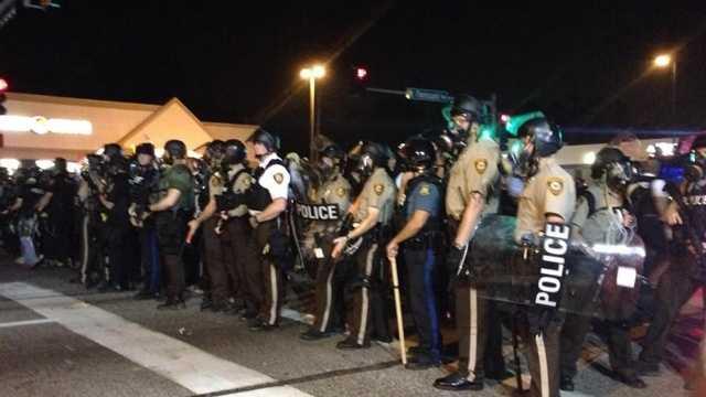Authorities in Ferguson