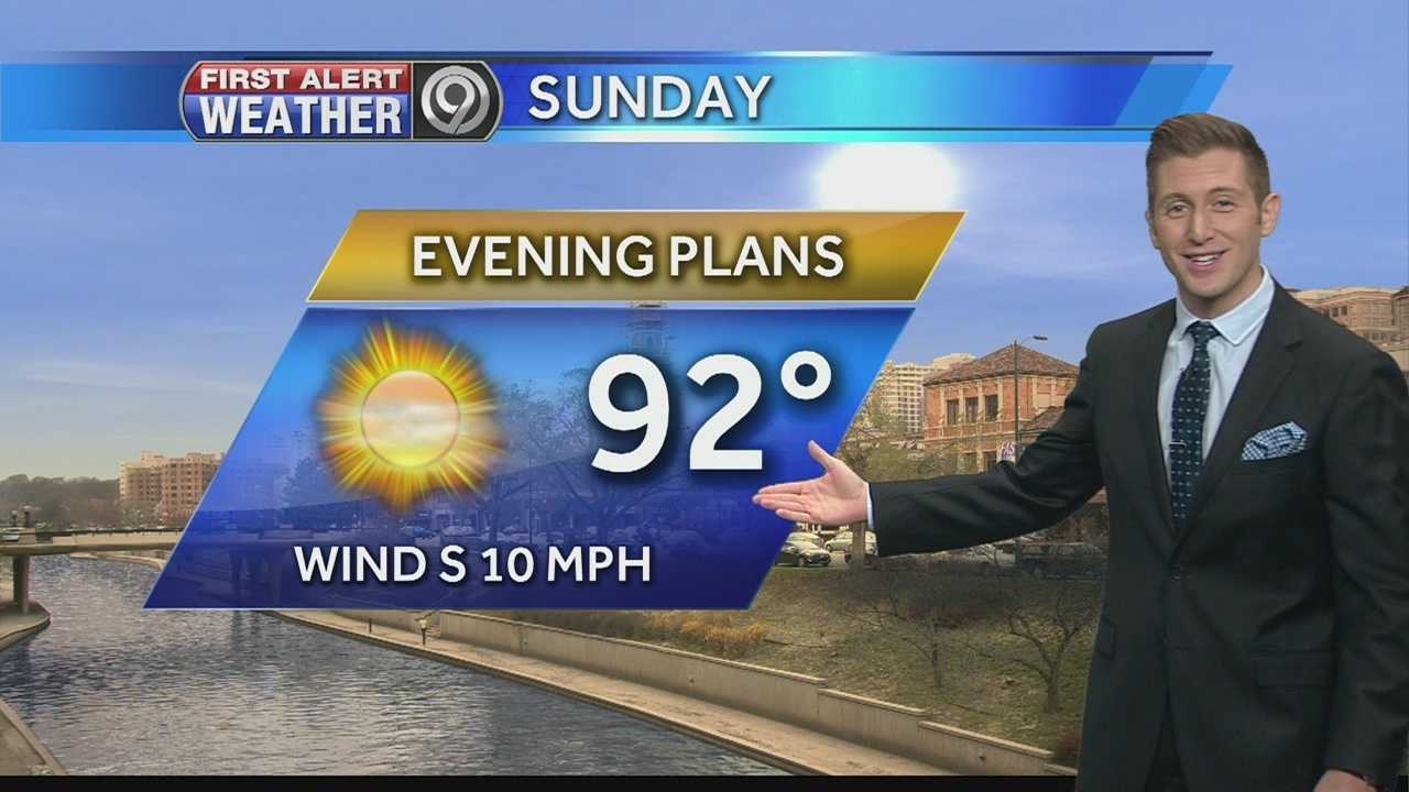 Rain, storms possible Sunday night