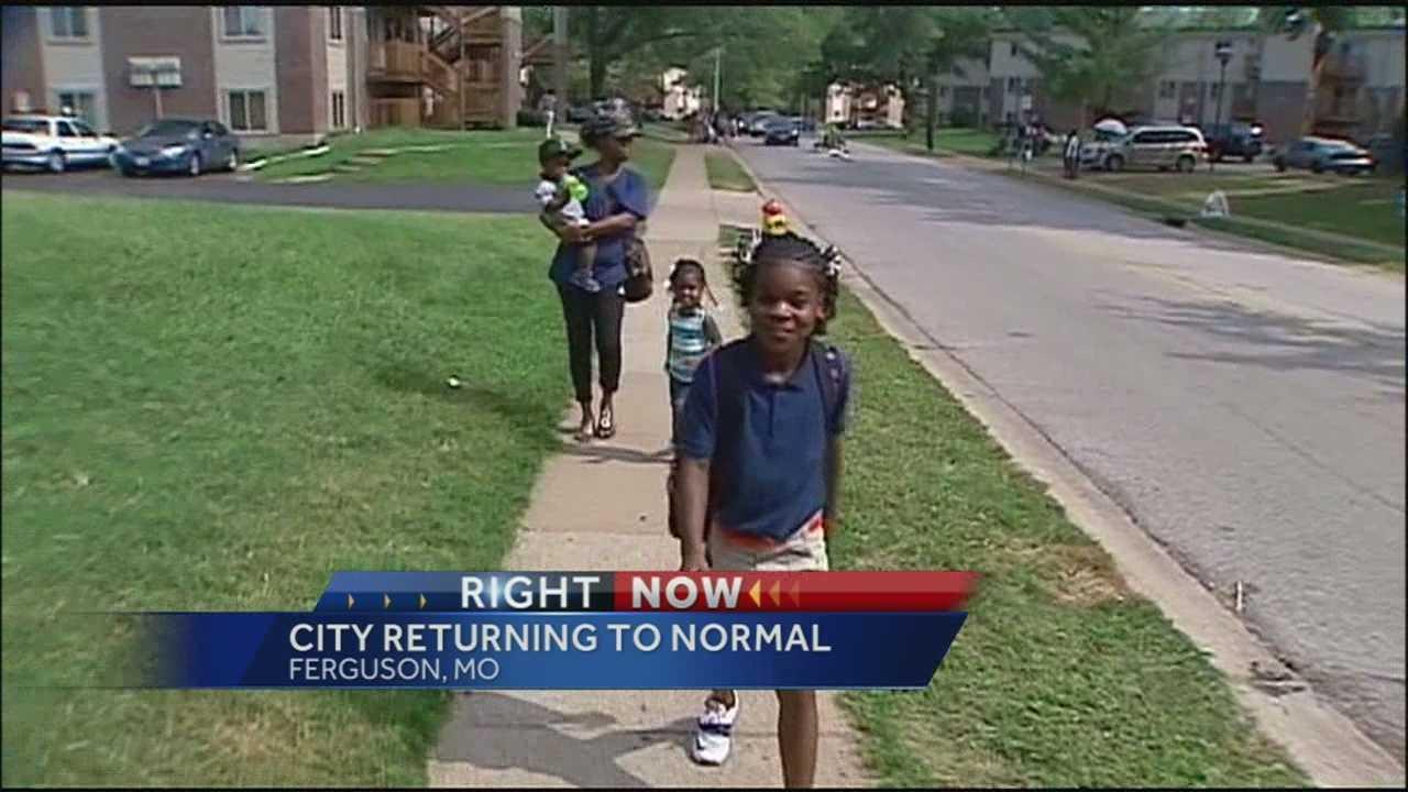 Ferguson families happy to see schools reopen