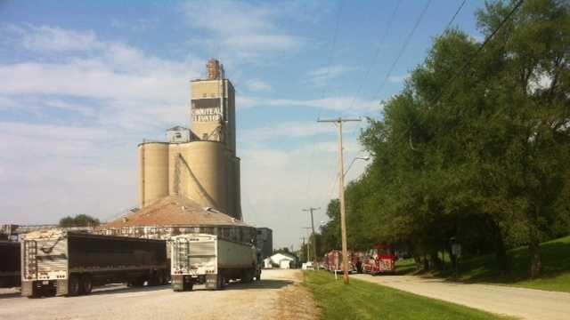 Electrical fire suspected in grain elevator