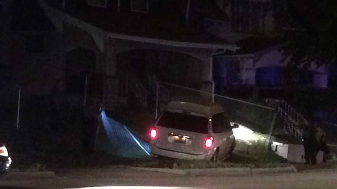 Police say no chase ensued after this minivan was stolen.