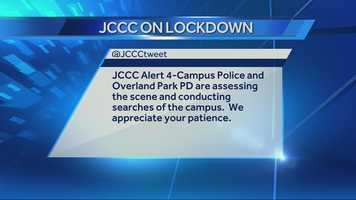 Images from Johnson County Community College, which was locked down on Thursday afternoon after there was a report of a woman with a gun on campus.