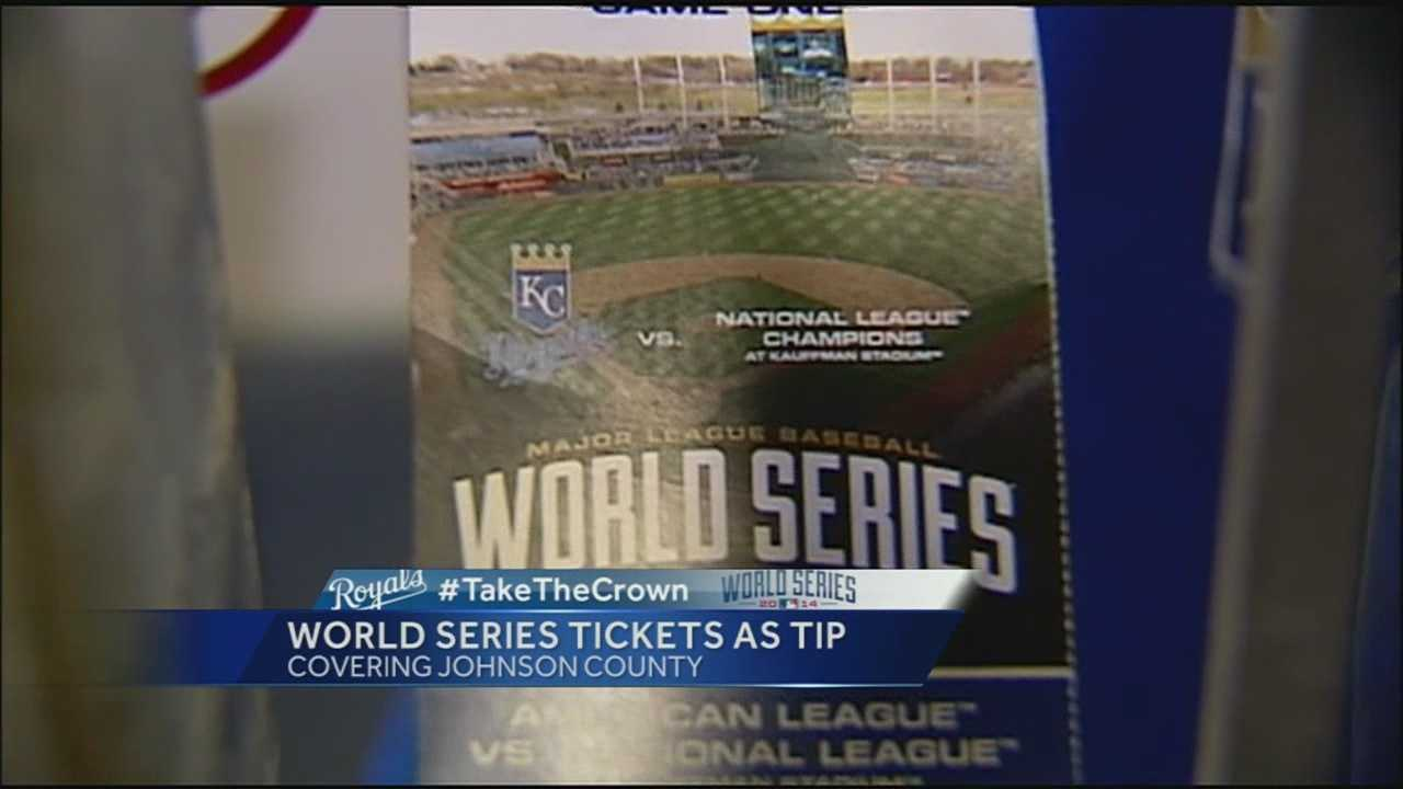 Server gets World Series ticket as tip from family of Royals player