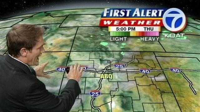 See Eric Green's morning weather forecast for New Mexico.