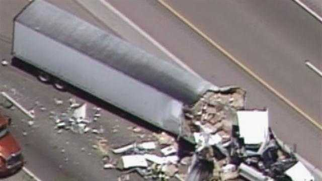 Semi truck crash from sky 7