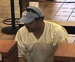 Anyone with information about this bank robbery is asked to call the Albuquerque FBI Office at (505) 889-1300 (24 hours) or Albuquerque Metro Crime Stoppers, anonymously, at 843-STOP. The FBI may pay a reward of $1,000 for information leading to the suspect's arrest and conviction.
