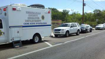 The body was discovered by a county worker who was performing routine maintenance in the area.