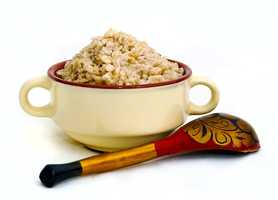 Oatmeal is high in dietary fiber, protein and almost sugar-free.