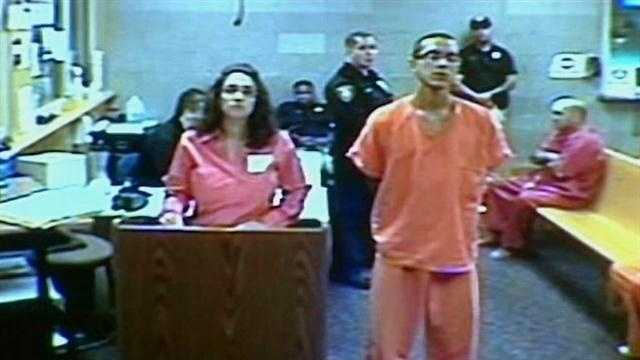 The man accused of shooting and killing a store clerk made his first court appearance on Thursday.