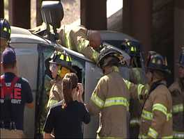 The Albuquerque Fire Department was called to the scene and firefighters had to cut the roof off the SUV to get the driver out.