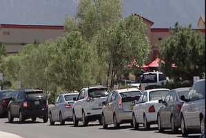 Lines were long at the Paseo del Norte location around lunch time.