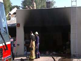 The Los Lunas Fire Department battled a house fire on Colonial Avenue on Monday morning.