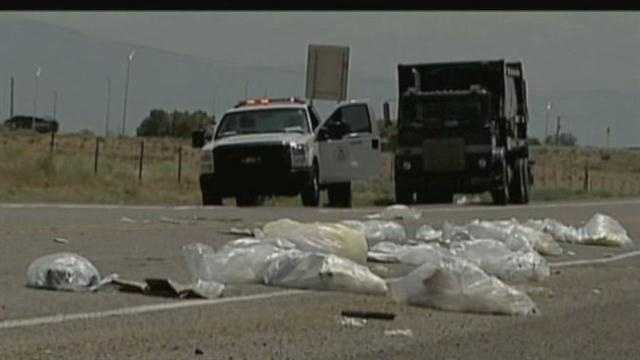 Medical waste spill stops traffic