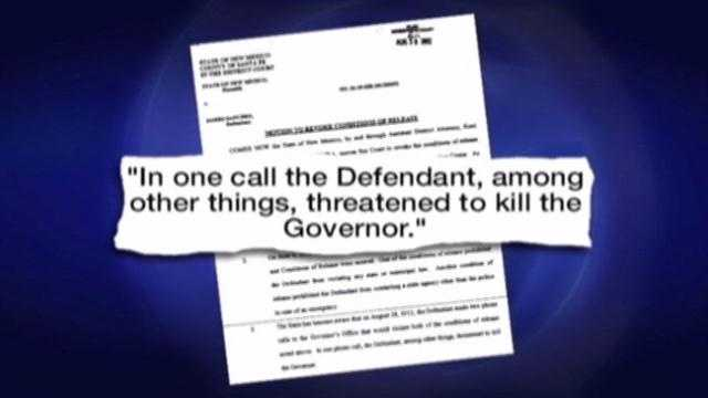 A man locked up for threatening to kill the governor will get out of jail on Friday.