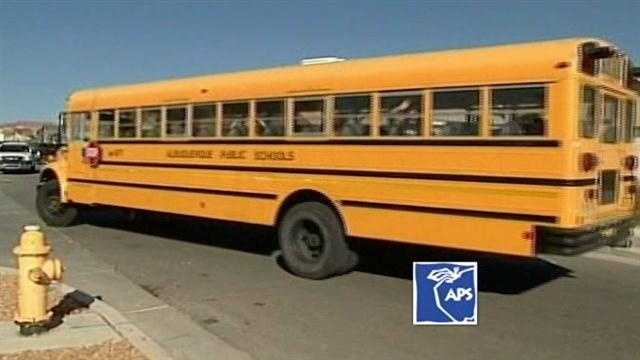 Students stuck at the bus stop waiting for hours for a ride to school find out the bus broke down.