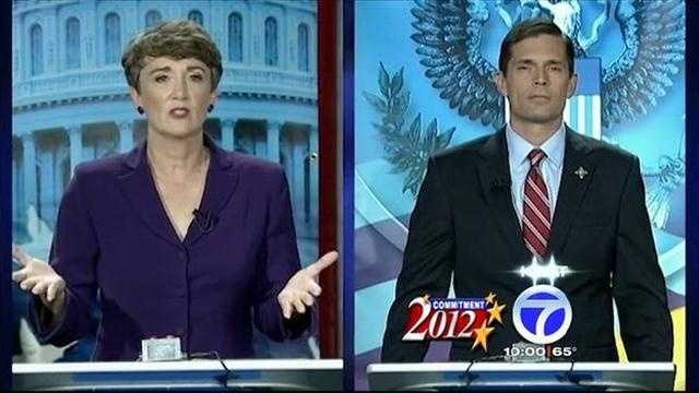 Senate candidates Martin Heinrich, D-N.M., and Heather Wilson, R-N.M., faced off in a debate on Sunday.