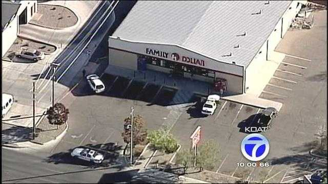 Police are at a Family Dollar in southeast Albuquerque after a report of an armed robbery.