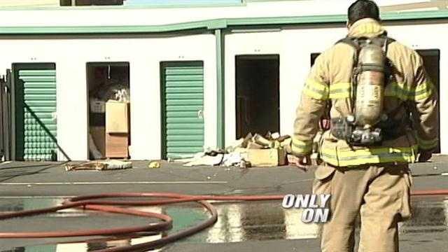Surveillance video shows man setting mattress ablaze