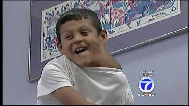 Boy with massive tumor sees doctor