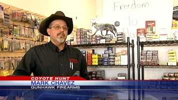 Gunhawk store owner Mark Chavez said the hunt will go on as planned with over 120 participants signed up