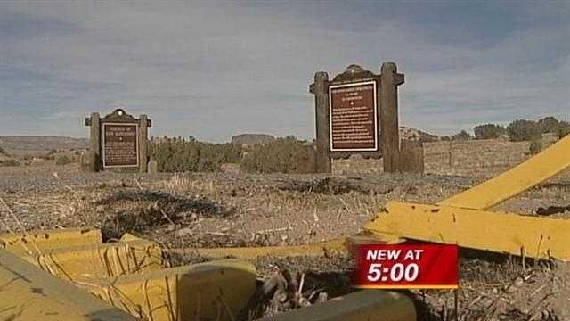 Pueblo's historic marker looted