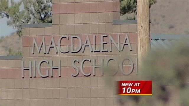 Frightening moments at a high school when a 14-year old fires a gun right after a basketball game. It happened in Magdalena last week, and tonight that teen remains behind bars.