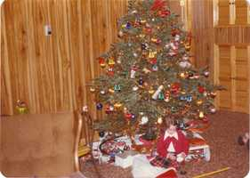 """""""Every Christmas Eve my parents would give us new pj's that we'd wear to bed that night.It was always exciting to see that new pair that meant Christmas day was the next morning,"""" Shelly said."""