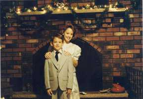 """Shelly said, """"No matter how excited I was Christmas morning, my little brother Joey was always the first one up trying to get us all out of bed!"""
