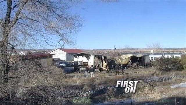 New details tonight on a suspicious death investigation in Rio Arriba County. Police say they found the remains of what they believe are two people inside a burning home and according to family members, the victims are brothers.