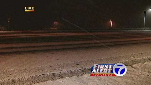 Snowfall Brings Difficult Driving Conditions