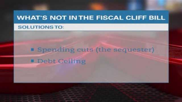What's not in fiscal cliff bill