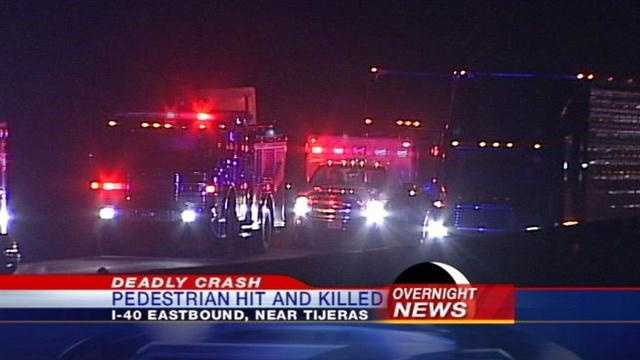 Pedestrian hit and killed on I-40