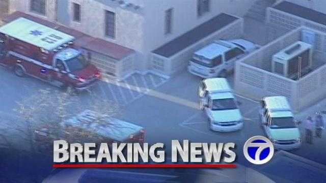 Hazmat crews are investigating a powedery substance found by employees.