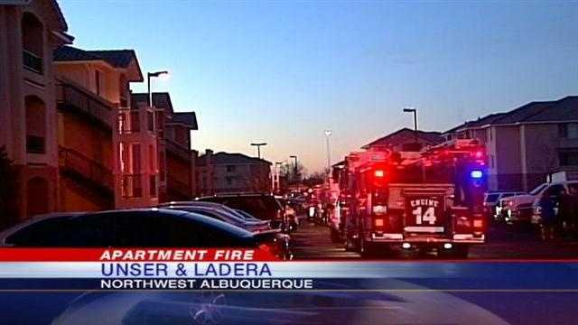 A small apartment fire created a commotion on Wednesday morning.