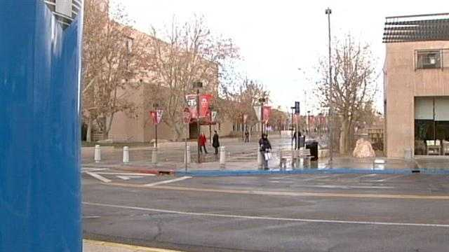 A frightening attack on the UNM campus has students on edge.