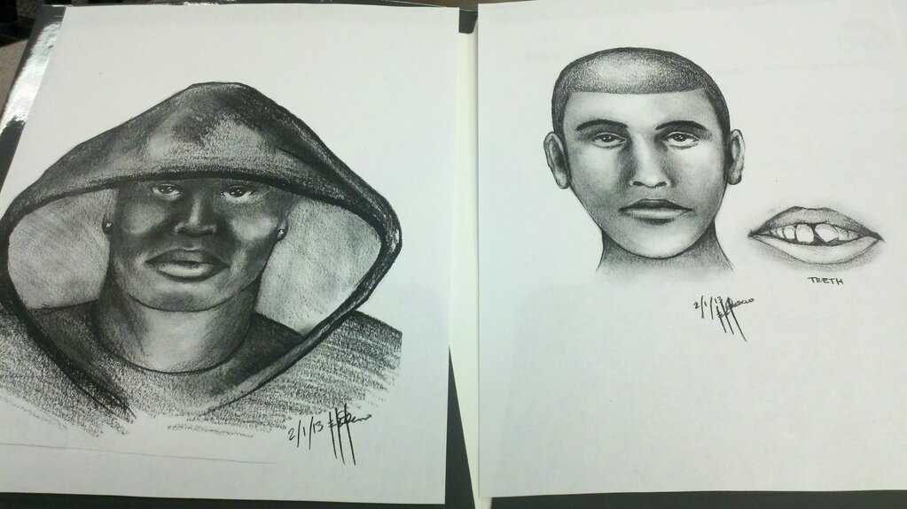 Police released a sketch Tuesday of the two men accused in a late January groping.