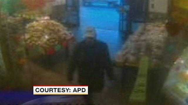 A new lead in the search for the person who's accused of beating a small business owner.