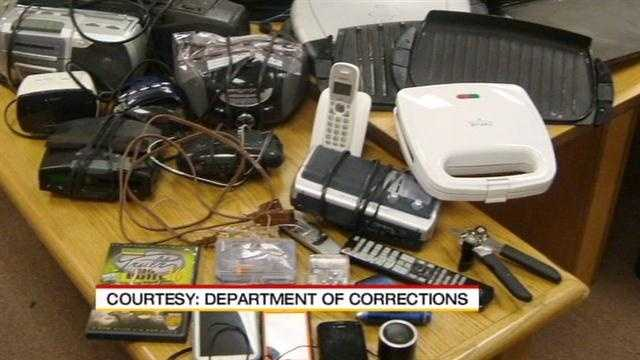 State corrections officials are planning to launch an internal investigation Friday after they found guards with a variety of prohibited items inside the state penitentiary.
