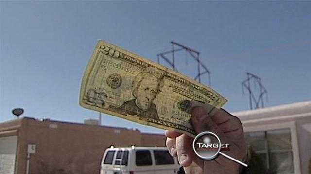 Counterfeit money at local bank