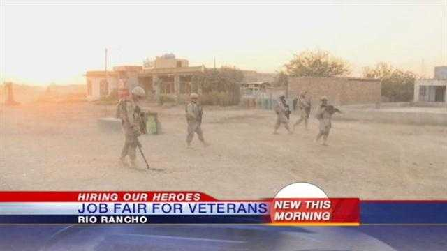 If you are a veteran looking for a job, there is a huge job fair today geared toward you. It's at the Santa Ana Star Center from 10 to 1.
