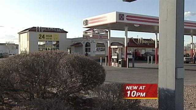 Gas station patron forced to urinate in bucket