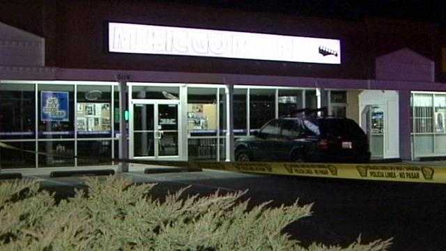 Police responded to a call about someone trying to sell back stolen instruments at a music store last night. That's when the suspect took off running and even pointed a gun at a sergeant. Police shot and killed the suspect.