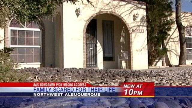 A young family scared for their life when they say a group of armed men tried to break down their door.