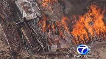 See photos of Friday's fire near Santa Fe