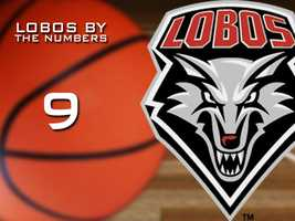 9. Number of games the Lobos won when shooting less than 40 percent.